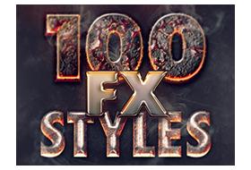 100 Layer Styles Bundle