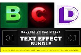 35 Modern Vector Text Effects Bundle