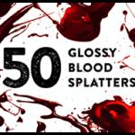 50 Glossy Blood Splatters