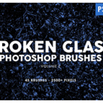 45 Broken Glass Photoshop Stamp Brushes
